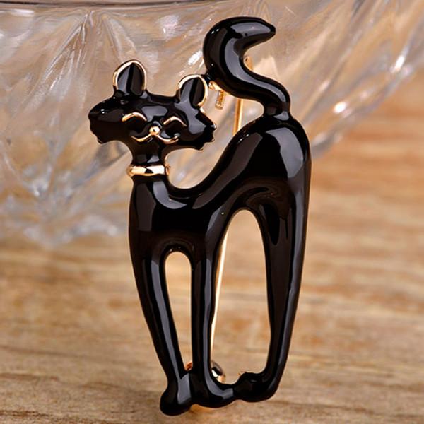 Broche para Esmalte Broche Kawaii Cute Enamel Jet Cat Broche Para Joyería Declaración Pequeño Animal Hijab Pins Mujeres