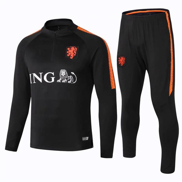 Commercio all'ingrosso nuovo 18 19 tute di calcio della squadra nazionale olandese van Dijk vestito di addestramento 2019 Holland Orange sportswear olandese maillot de foot