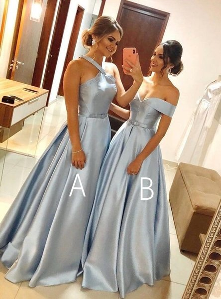 Sexy Party Gala Dress Plus Size Blue African Arabic Long Prom Evening Dresses Gown 2019