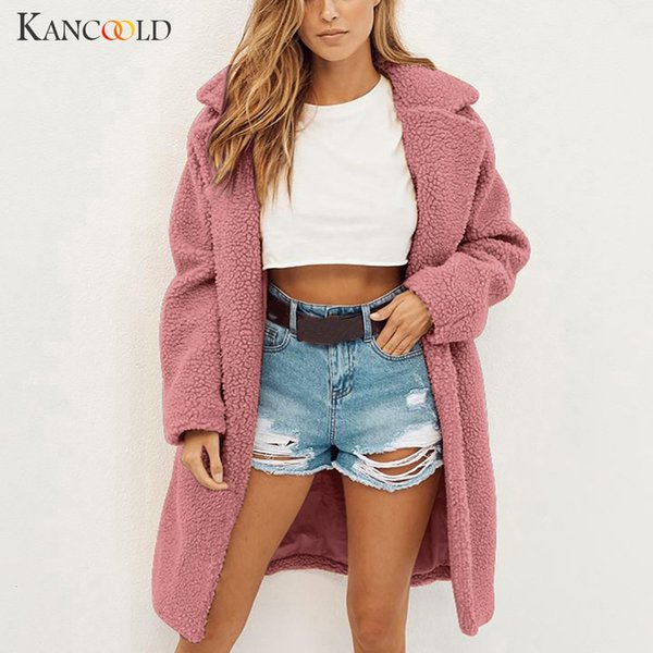 KANCOOLD coats Womens Ladies Warm Faux Fur Outerwear Winter Solid Long Parka fashion new coats and jackets women 2019AUG9