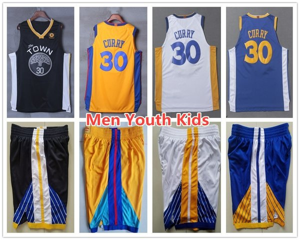 best loved 9e873 1c4f1 2019 Men Youth Kids 2019 City Edition 30 Stephen Curry Jerseys The Town  Black White Blue Yellow Stephen Curry Jersey Stitched Child Shirt From ...
