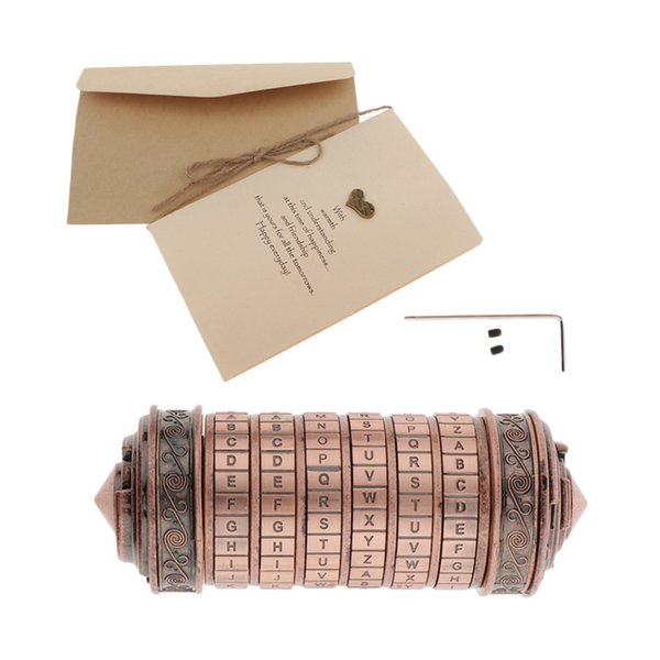 top popular Da Vinci Lock Box Romantic Annversary Birthday Gifts Red Bronze 2021