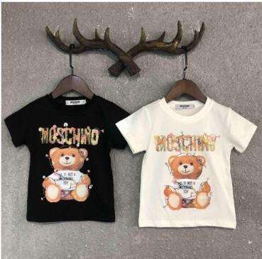 Çocuklar Tasarımcı Giyim Kız Erkek Bebek Moda Baskı Pamuk Giyim Tasarımcı Erkek Tasarımcı Tişört Nefes Moda Marka Lüks D-2