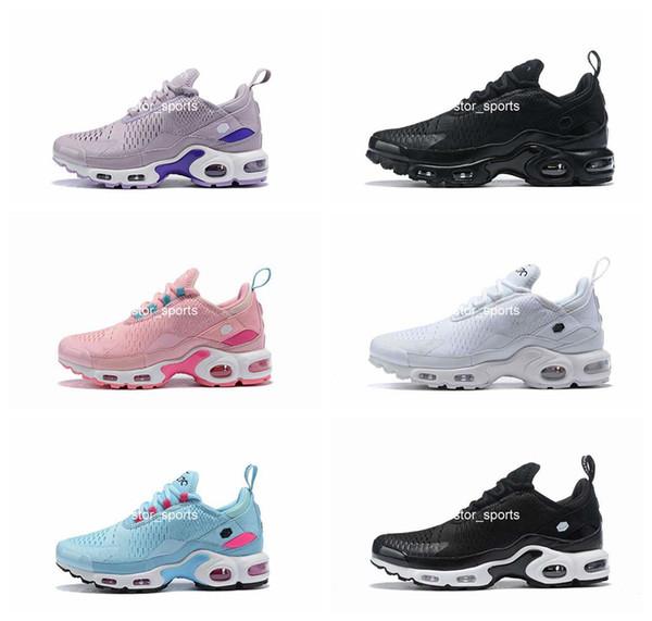 Compre 2019 Nike Air Max 270 TN Zapatillas De Deporte De Moda Para Hombre Negro Rosa Tns Calzado Deportivo Para Mujer Mesh White Chaussures Trainer