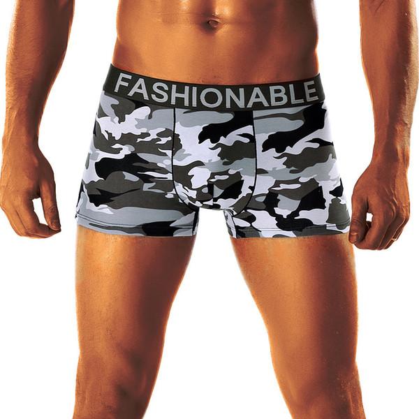 Sexy Accueil Casual Simple Hommes Camouflage Populaire Doux Respirant Pyjama Pantalon Boxer Culotte Sous-vêtements Pour Hommes C19041801