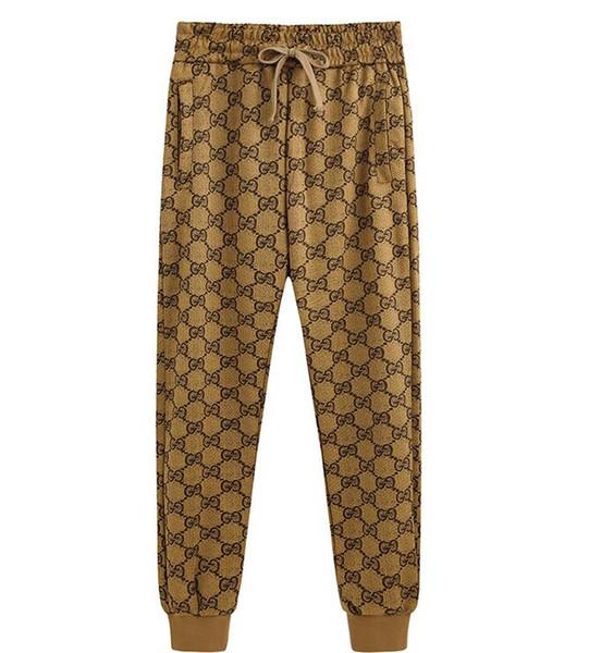 Mens Joggers Estate G Nuovi pantaloni casual da uomo Pantaloni rossi a righe laterali bianchi pantaloni di seta selvatici Pantaloni da jogging