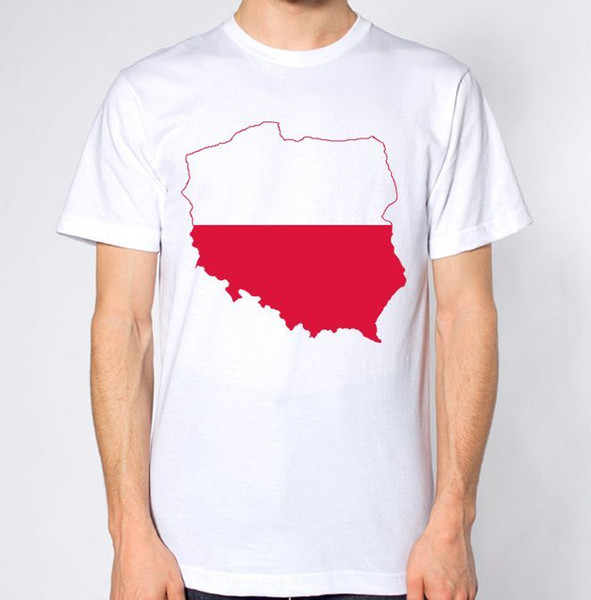 Poland New T-Shirt Map Flag Top Country Gift Present City Holiday Tee Polish Short Sleeve Plus Size t-shirt colour jersey Print t shirt