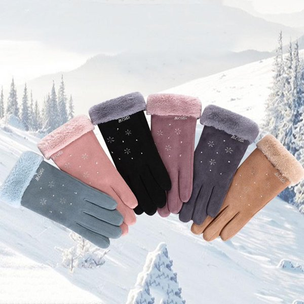Ein Paar Winter Handgelenk Weibliche Cartoon Handschuhe Thermische Verdicken Handschuhe Touch Screen Outdoor Atmungsaktive Erwärmung