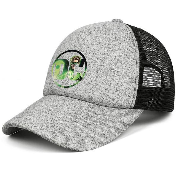 Green Lantern DC hero logo kids baseball caps Fit Teen baseball cap Back Closure grey cap cute baseball caps hats