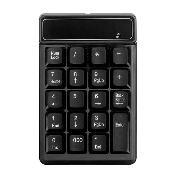 Nummernblock USB Wireless Numeric Keypad 19 Tasten Nummernblock Wireless 2,4 GHz Mini-Empfänger für Windows XP 7/8 Laptop PC-Computer