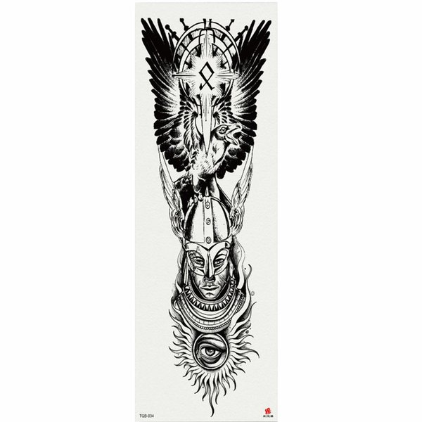 1 Piece Faceless Men Temporary Tattoo Sticker With Arm Body Art Big Sleeve Large Fake Tattoo Sticker