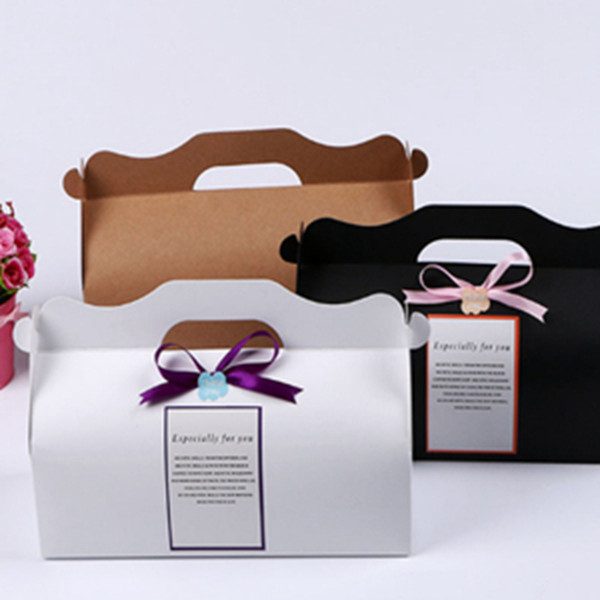 Kraft paper long roll box, baking packaging box, moon cake, cookies and candy packaging, simple atmosphere gift box