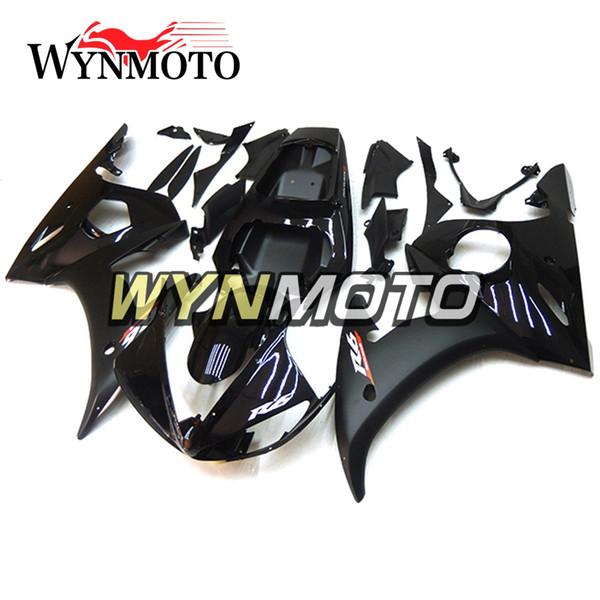 Plein brillant Noir Blanc R6 Moto Carénages Pour Yamaha YZF 600 R6 2005 05 ABS En Plastique Injection Kits moto couvercles