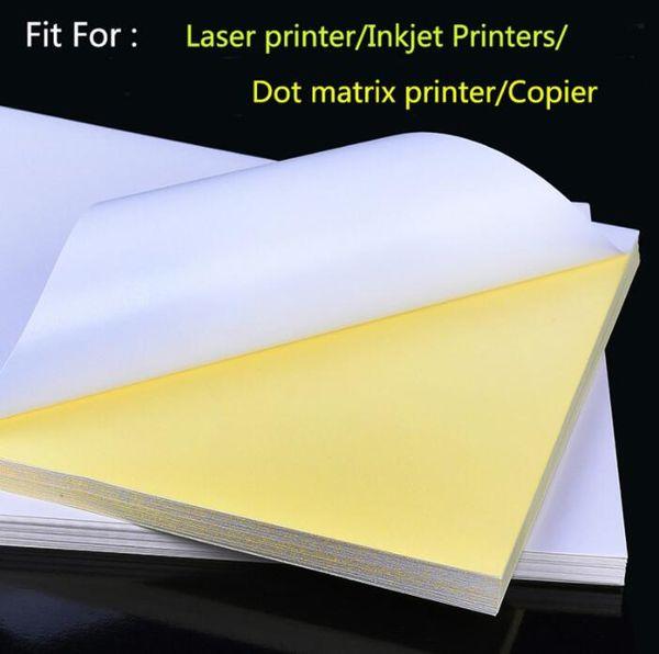 top popular New Sheets A4 Laser Inkjet Printer Copier Craft Paper White Self Adhesive Sticker Label Matte Surface Paper Sheet 2021