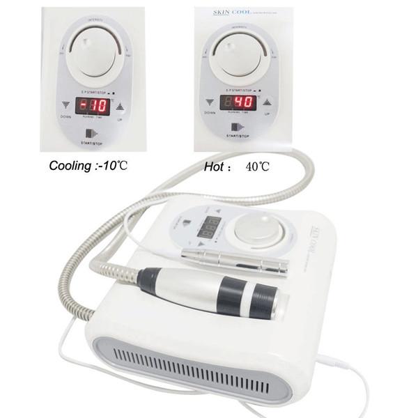 2 en 1 Cryo sans aiguille Électroporation Méso Mésothérapie Peau Cool Chaud Facial Anti-Vieillissement Soins De La Peau Machine De Beauté