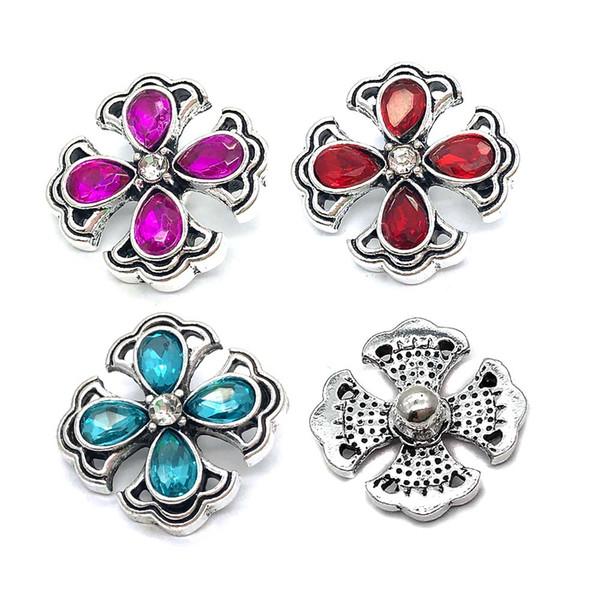 All'ingrosso 012 fiore 3D 18mm 25mm pulsante a scatto in metallo per collana braccialetto gioielli intercambiabili Accessorie per le donne