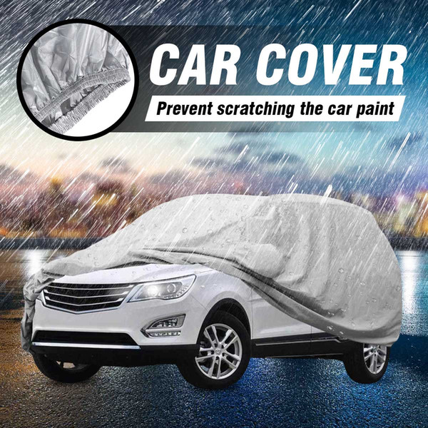 top popular Car Cover L XL Size SUV Full Car Covers Snow Ice Sun Rain Resistant Protection Waterproof Dustproof Outdoor Indoor 2020