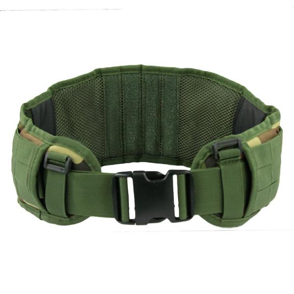 Outdoor Equipment Military Airsoft Adjustable Tactical Padded Molle Waist Belt Combat Army Battle Belt Cummerbunds #72405