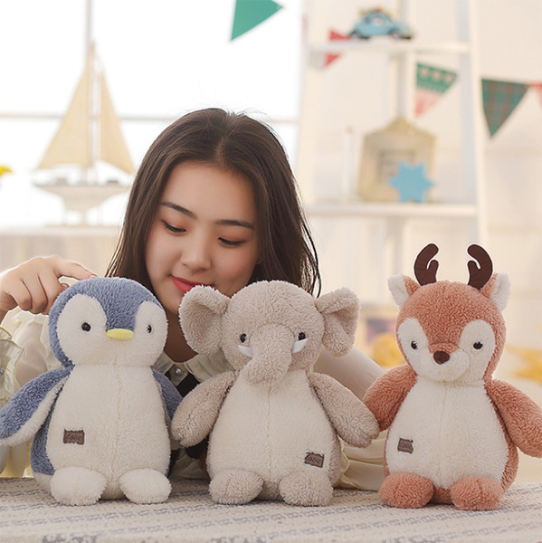 Penguin Deer Elephant Plush Toys Ocean Stuffed Animal Cute Dolls Gifts for Kids Decorations 8 Inches
