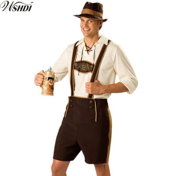 M-XXL Adult Beer Costume Bavarian Octoberfest German Festival Oktoberfest Costumes Cosplay Halloween Costumes for Men