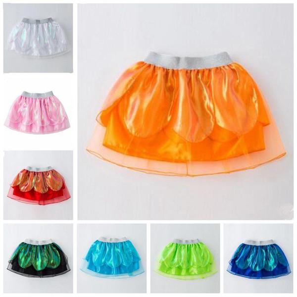 Enfants Stylistes Filles Tutu Mini robes de danse solide Costume bébé arc-en-Tutu Jupes robe de princesse fête de Noël Stagewear TLZYQ293