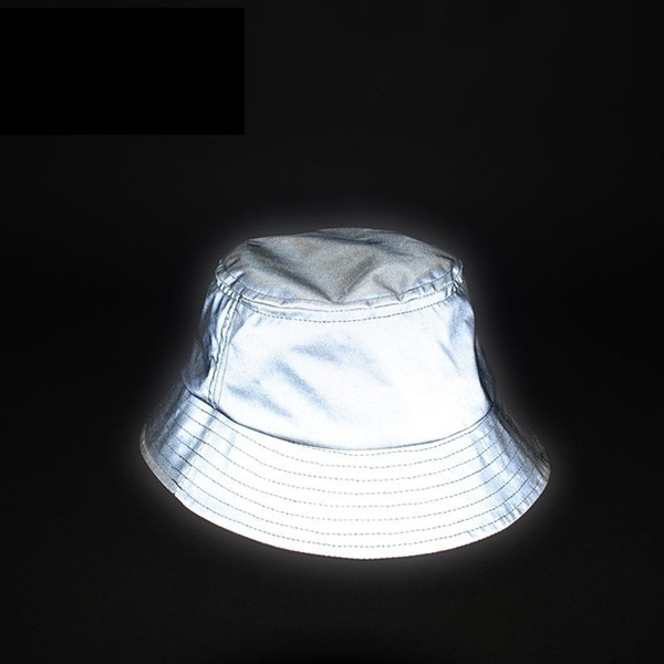 Uomo Donna Cappello Riflettente Unisex Glow In The Dark Hip Hop All'aperto Estate Spiaggia Pesca Sole Secchio Cappello Bob Chapeau Caps Wfgd809 Y19070503