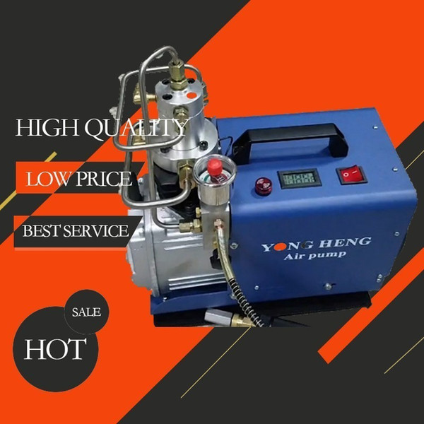 best selling 30Mpa High Pressure Air Pump Electric PCP Compressor 220V 300bar 4500PSI Diving