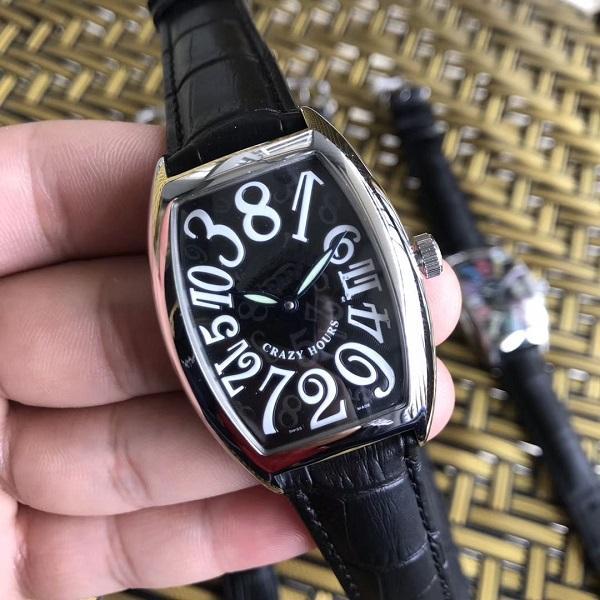 Hochwertige Luxus Lady CRAZY HOURS 8880 CH Zifferblatt schwarz Automatik Edelstahl Damen Damenuhren