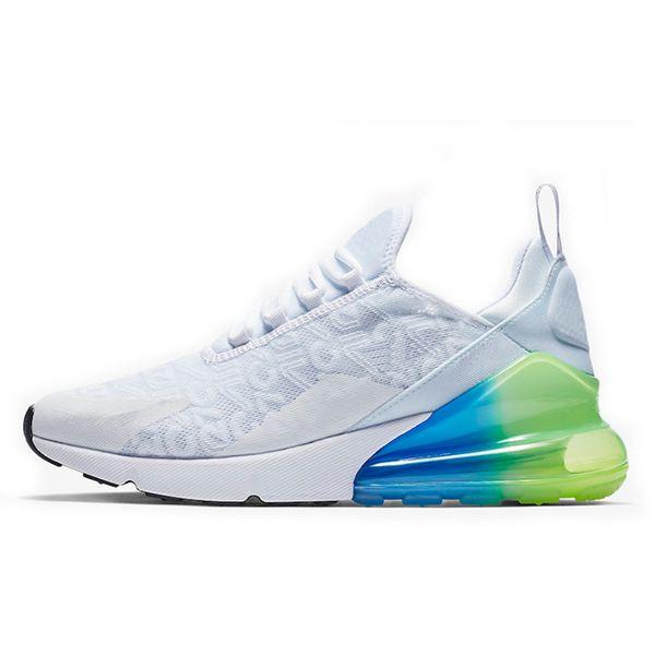white green blue