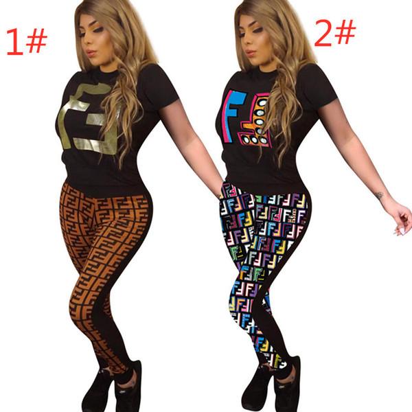 Ropa de mujer trajes de manga corta conjunto de 2 piezas sexy sudadera con capucha impreso chándal jogging deporte traje sudadera medias traje deportivo klw0736