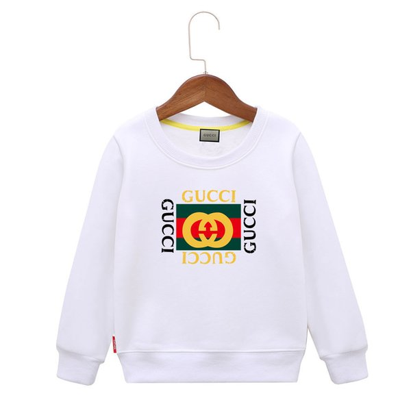 Cute Hoodies Children's Clothes Tide Card Middle-sized And Small Boys Bottoming Plus Cashmere Sleeve Head T-shirts Long