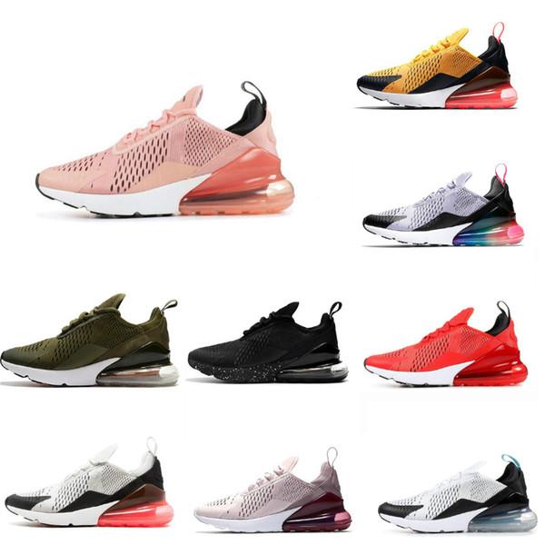 Nike air max 270 off white vapormax nmd jordan puma asics vans fila basketball sandel red botoms men women booties White University Rosso oliva Volt Habanero 27C Flair Sneakers