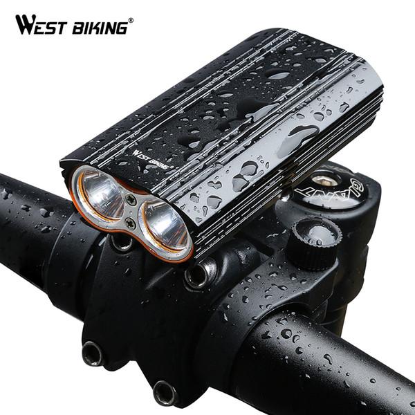 West biking çift iki ışıkları bisiklet far su geçirmez t6 ampul çift dirsek usb şarj edilebilir güçlü bisiklet ışık