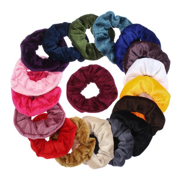 6pcs velluto scrunchie donne ragazze elastici per capelli elastici accessori gomma per le donne cravatta anello di capelli corda coda di cavallo titolare scrunch