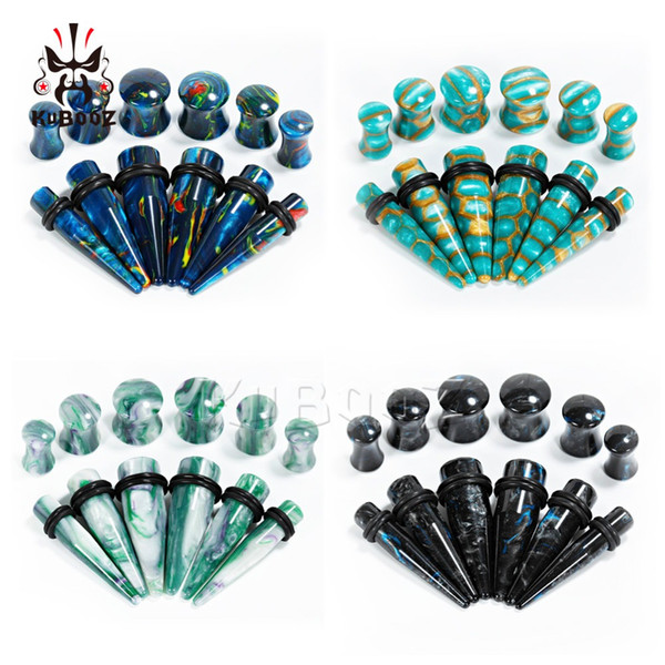 wholesale piercing ear gauges set acrylic ear plugs matched tapers body jewelry expander pair selling earrings mix sizes 6 to 10mm
