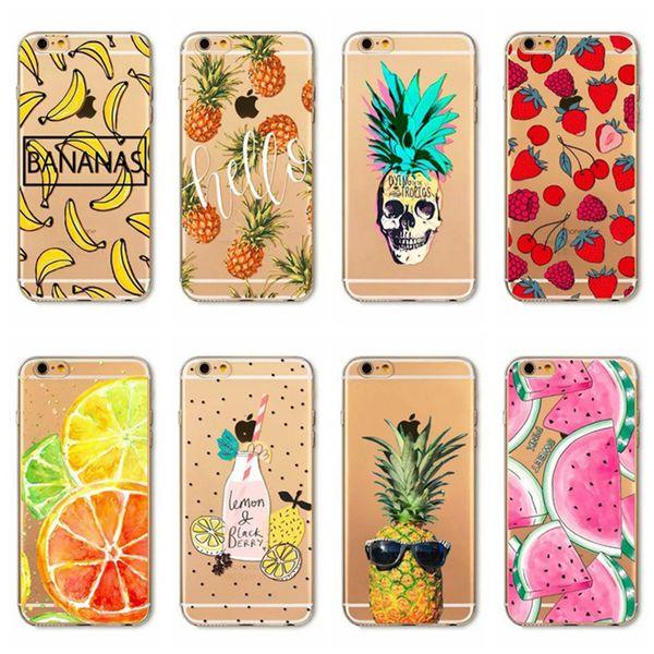 Summer fruit iPhone 8 painted tpu phone case Apple 7 mobile phone case flamingo 6S phone case