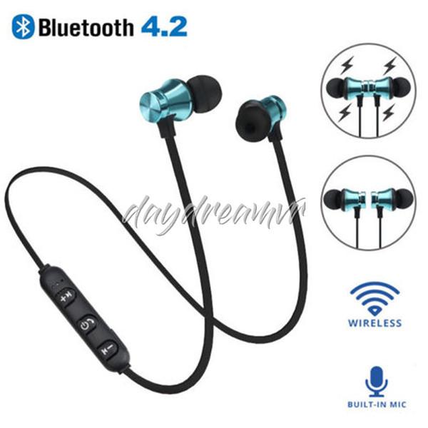 Bunte Musik Bluetooth 4.2 Kopfhörer Ohrhörer XT11 Sport Wireless Bluetooth Headset mit Mikrofon für iPhone Samsung Xiaomi Sony am billigsten