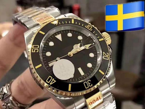 Мужские наручные часы с керамическим ободком SEA-Dweller 116610LN 2813 Сапфировая нержавеющая сталь с застежкой-глиссером Автоматические механические часы dw dz reloj
