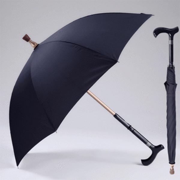 Hombres paraguas creativo caña escalada paraguas largo mango paraguas masculino bastón antideslizante masculino a prueba de viento paraguas lluvia engranaje MMA1699