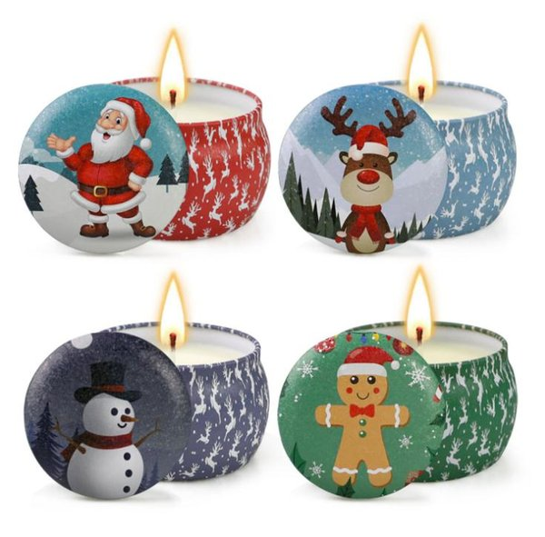 Christmas Scented Candles Decoration Santa Claus Snowman Cone Candles Smokeless Aroma Home Wedding Party Christmas Candle new SN415