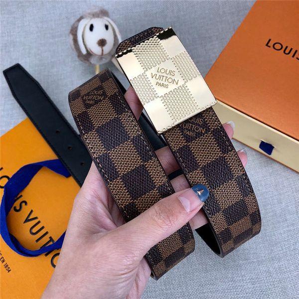 Cinturón de marca de moda nuevas mujeres moda hebilla lisa cinturón de hebilla de metal amigas ocasional personalidad cinturón 113285