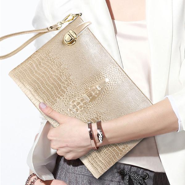 Neue echtes leder handtasche für frauen Krokoprägung einzelne schulter spanne rindsleder tasche ledertasche krokoprägung handtasche neue mode w