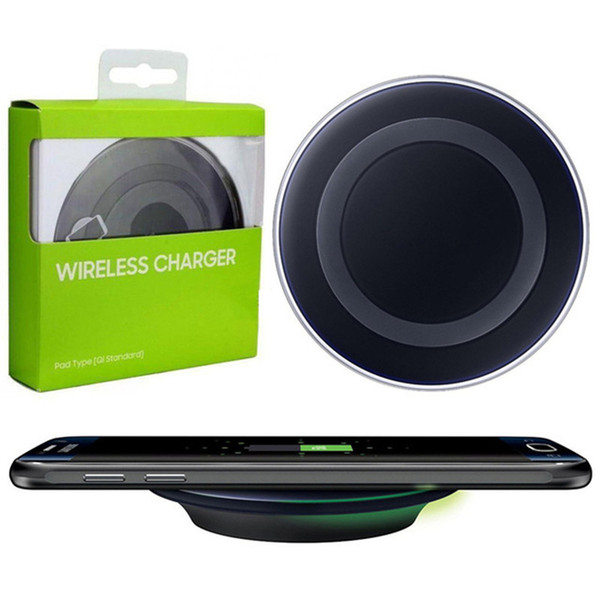 Universal Qi chargeur sans fil chargeur de téléphone portable avec chargeur de boîte au détail pour samsung galaxy s8 s7 s6 bord note5 huawei android