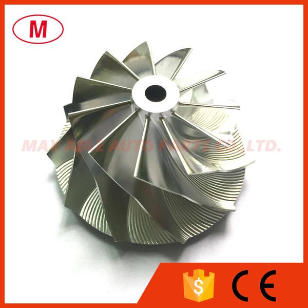GTA15-25 737689-0002 41.55/56.03mm 6+6 blades High Preformance Turbo Billet Compressor wheel/Aluminum2618/Milling comprssor wheel for 769708