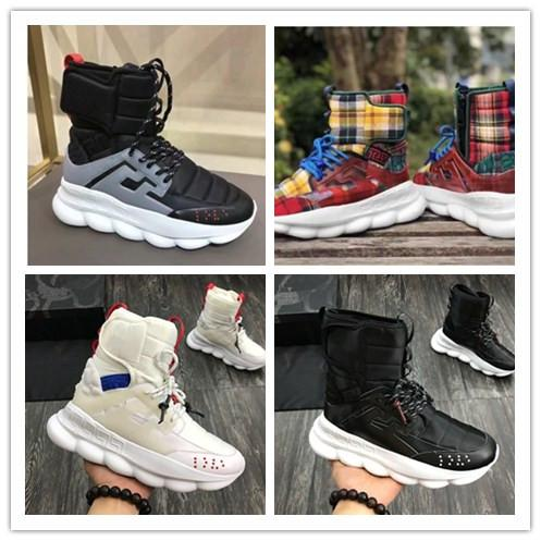 2018 autumn and winter new Medusa men's shoes thick bottom increased short tube Martin boots Korean high-top men's shoes8896011