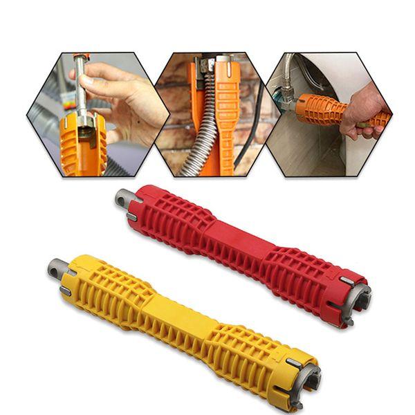Multifunktionale Wasserleitung Doppelendschlüssel Becken Boden Zange Hülse Bad Wasserhahn Waschbecken Installation und Wartung Werkzeug