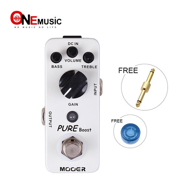Mooer Pure Boost Boost Pedal 20db clean boost with 15db 2 band EQ Full metal shell True bypass Free shipping