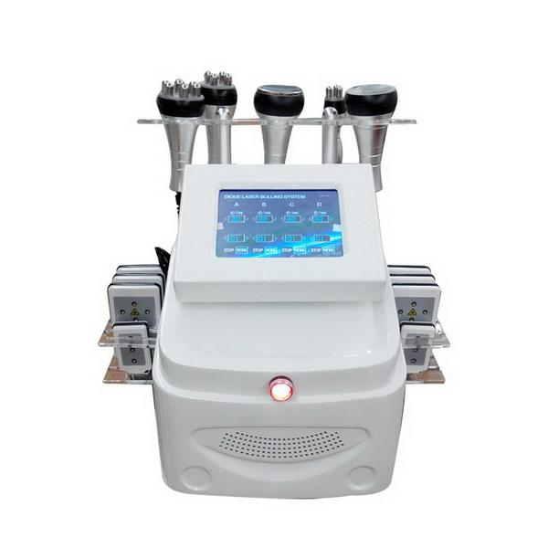 6 IN 1 ultrasons Liposuccion machine 40K Cavitation RF Lipo Laser Fat Burning vide corps minceur Machine pour Spa