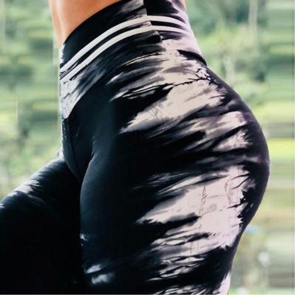 2018 Kadın Streç Yoga Pantolon Baskılı Spor Tayt Yüksek Bel Spor Tayt Kadın Egzersiz Pantolon Yoga Koşu Tayt Dans