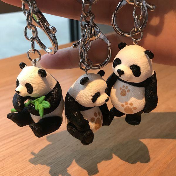 Panda chaveiro new cute panda chaveiro para o saco chave do carro anel turismo lembrança presentes chaveiro